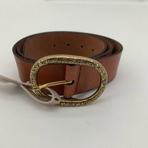 "NEW Fossil Brown Leather Belt NEW 1.5"" Wide"